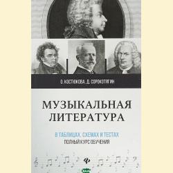 Музыкальная литература в таблицах. Полный курс обучения
